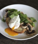 Poached Eggs with Mushrooms and Spinach