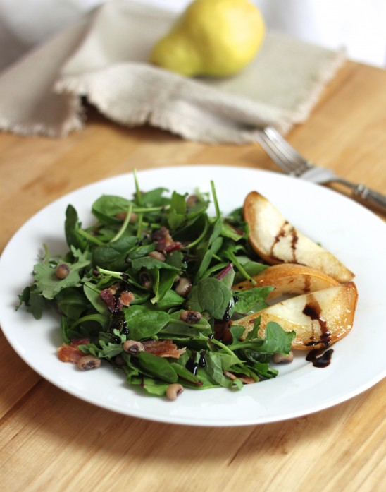 Green Salad with Pears