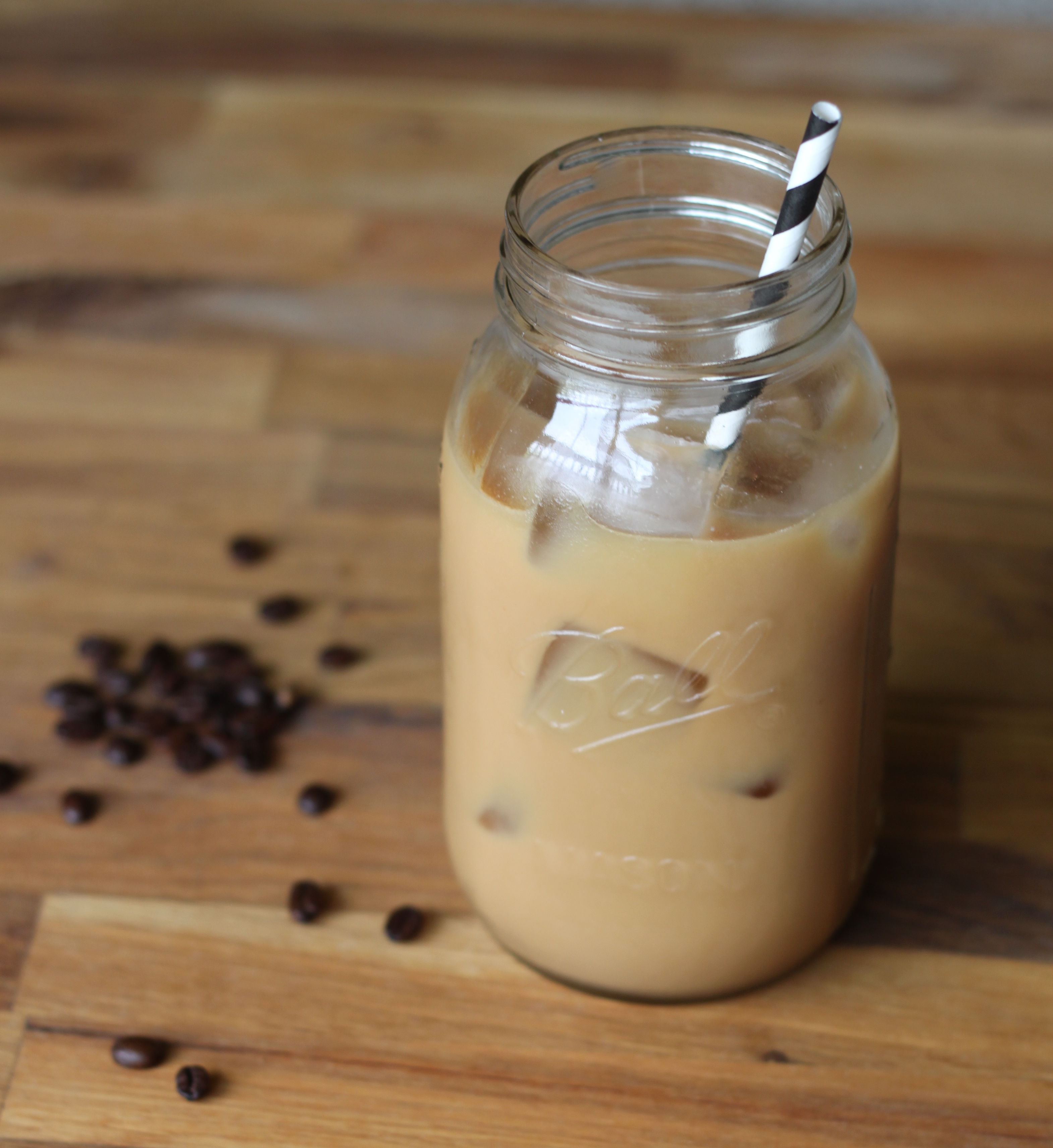 Place a filter paper inside a matching plastic filter cup, such as those used for making single-cup brews, and add roughly 5 tablespoons of ground coffee, about double the amount you would use to make standard hot coffee.